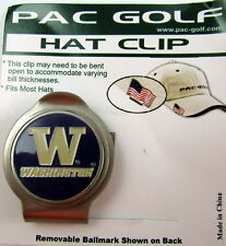 PAC Golf Hatclip w/ Ballmark Ball MarkBallmarker NCAA WASHINGTON HUSKIES Purple