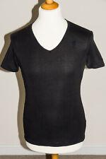 G Star Raw Mens Basics Short Sleeve V-Neck Cotton T-Shirt Top Black - Size Small