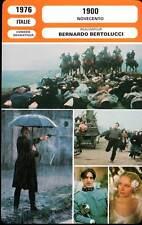 1900 - De Niro,Depardieu,Sanda,Bertolucci (Fiche Cinéma) 1976 - Novecento