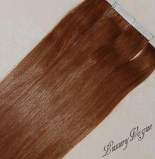 40pcs 100% Human Hair 3M Tape-in Extensions Remy #30 (Medium Auburn)