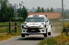 Andreas Mikkelsen Firmada A Mano Ford Fiesta Foto 12x8.