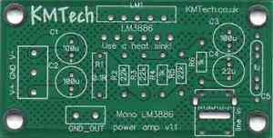 PACK OF FIVE Quality LM3886 based mono amplifier Chipamp Gainclone PCB only DIY
