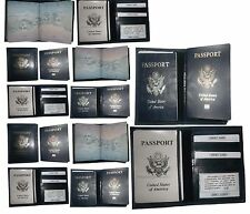 Leather passport case, USA wallet credit card case ID holder Brand New Lot of 12
