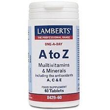 Lamberts A-Z Multivitamins & Minerals 60 Tablets