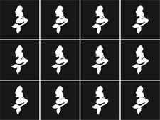 Mermaid Nail Art Vinyl Stencil Guide Sticker Manicure Hollow Template