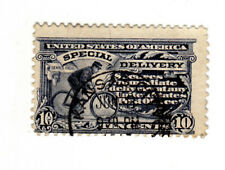 1917 Bike Messenger 10 Cent U.S. Special Delivery Stamp Scott #E11 Perf. USED