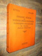 Annuaire Médical des Stations Hydrominérales, balnéaires, sanatoriums 1934