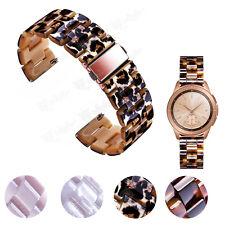 20mm 22mm Smooth Tortoise Resin Watch Band Strap For MK Bradshaw Smart Watch