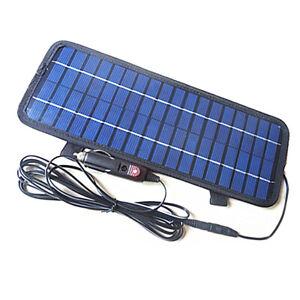 12V 4.5W Mehrzweck Portable Solar-Ladegerät für Auto KFZ Motor Traktor Boot~