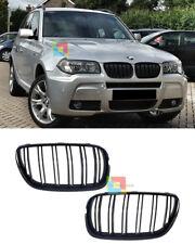 GRIGLIA ANTERIORE LOOK M PER BMW X3 E83 2007-2010 LCI LIFT NERA DOPPIA FASCIA .-