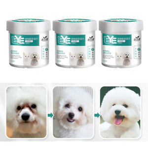 3 Pack Cotton Pet Eye Wet Wipes Dog Cat Grooming Tear Stain Wet Remover Towel