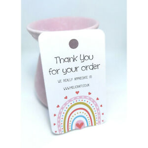 Personalised 'Thank you for your order' Labels/Tags/Cards  - 8 Designs
