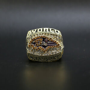 Ray Lewis - 2000 Baltimore Ravens Super Bowl Championship Ring WITH Wooden Box