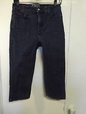 NYDJ NOT YOUR DAUGHTERS JEANS Dark Stretch Tummy Tuck Mom Capri Jeans Sz 8 x 20""