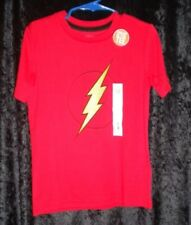 NWT JUMPING BEANS BOYS SIZE 5 RED WITH YELLOW THUNDERBOLT AMAZING ACTIVE TEE