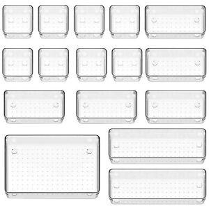 16x/Set Drawer Desk Draw Cutlery Storage Tray Office/Home Kitchen Organizer Box