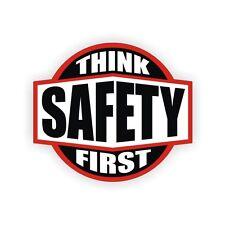 Think Safety First Safe Worker Helmet Toolbox Bike Hard Hats Decal Sticker Label