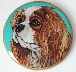 Cavalier King Charles Spaniel Dog Original Art Brooch Pin