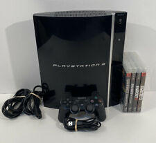 Sony Playstation 3 PS3 Model CECHK01 80GB Black Game Console|Controller|+Games