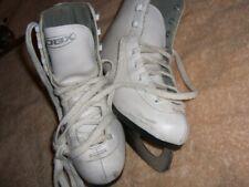 Dbx White Figure Ice Skates Size 2