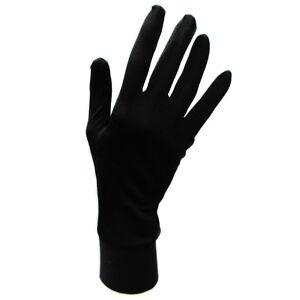 Jasmine Silk Pure Seide Futter Handschuhe Thermo Ski Innen Handschuhe - Schwarz