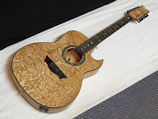 DEAN Exhibition Quilt Ash 12-STRING acoustic electric GUITAR new Gloss Natural