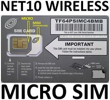 ! Net10 Dual Sim Card Brand New! At&T Network !