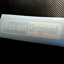 WHITE Das Not Original Car Sticker Decal VW VDUB Funny German