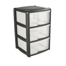 Tontarelli 3 Drawer Tower Black,