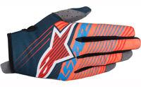 Alpinestars Radar Tracker Gloves Aqua/Org Motocross Mx Quad Atv Off Road
