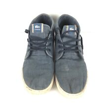 a19cc2f2b6ac7f Lacoste Mens Sneakers Ampthill Hightop Shoes Blue Size 10.5