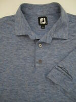 Mens Large FootJoy heather blue golf polo shirt Infiniti of Scottsdale