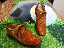 Vintage Dexter Classics Golf shoes Mens SZ 9A  All leather soles Brown Tassels