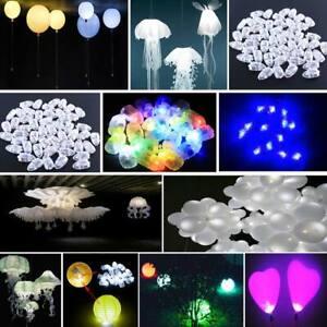 50pc Bullet LED Lamp Light Party Birthday Vases Decor For Paper Lantern Balloon