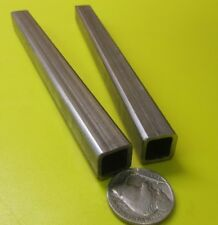 "304 Stainless Steel Square Tube  1/2"" SQ x .065"" Wall x 6 Inch Length, 2 Pcs"