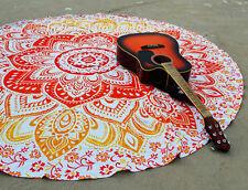 Hippie Ombre Mandala Tapestry Indian Wall Hanging Beach Throw Yoga Mat Decor