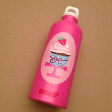 SIGG Fresa Pink Birthday Strawberry Cupcake 0.6L Aluminum water bottle New