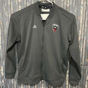 DC United Adidas MLS Track Jacket Full Zip Gray Mens Size XXL