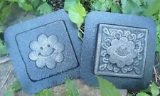 "Flower face tile molds  4"" x 4"" x 1/3"" each"