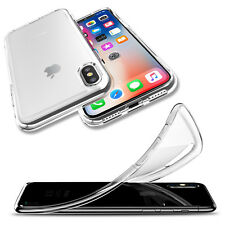 For Apple iPhone X Shockproof Ultra Thin Slim Clear Crystal Soft TPU Case Cover