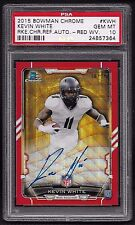 2015 Bowman PSA 10 Kevin White Red Chrome Refractor Auto RC Serial # 6/25