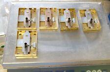 lot de 5 serrure de meuble acier laitonné 80x60mm 3 points neuf