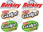 BERKLEY, GULP, GULP ALIVE - Set of 6 Decals - BOAT DECALS