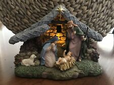 Thomas Kinkade Lighted Nativity