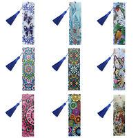 Diamond Painting Leather Bookmark Tassel Bookmarks Diamond Embroidery DIY Craft