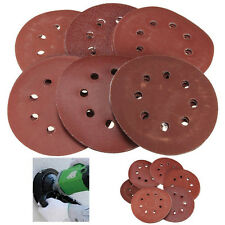 30x 5'' 80 240 400 800 1000 2000 Grit 8 Holes Hook Loop Sand Paper Sanding Discs