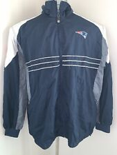 New England Patriots Windbreaker Jacket Sz XL Blue Reebok NFL Team Apparel SI