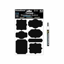 42 Vintage Black Vinyl Chalkboard Kitchen Pantry Labels for Can... Free Shipping