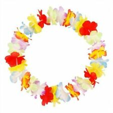 10 Hawaiian Grass Skirt Flower Hula Lei Necklace Ladies Mens Garland Fancy Dress