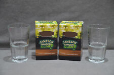 2x Jameson Irish Whiskey Ginger & Lime Glasses Glass Tumblers Pub BBQ Party